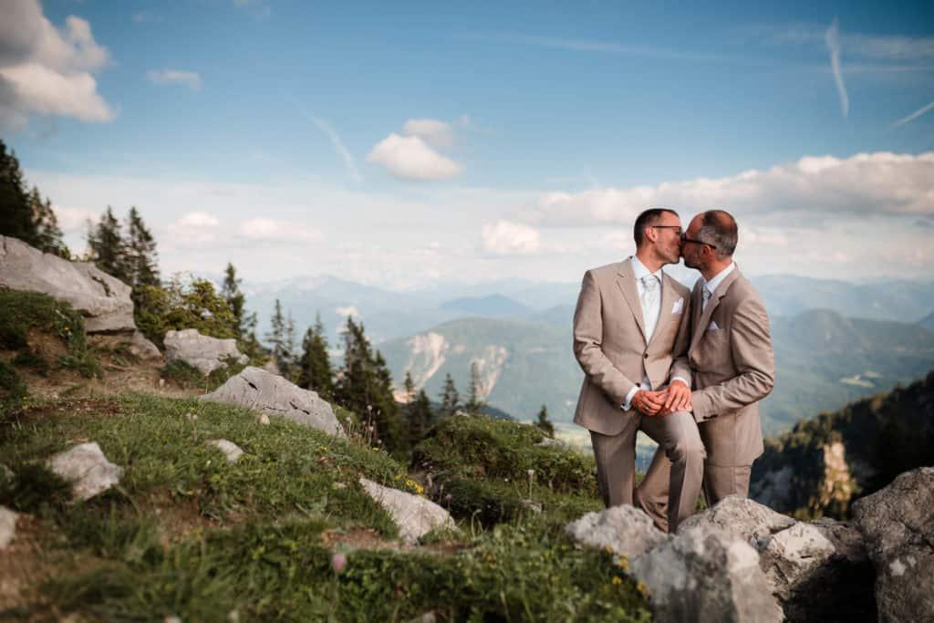 Als Hochzeitsfotograf auf der Kampenwand: Dennis und Dirk