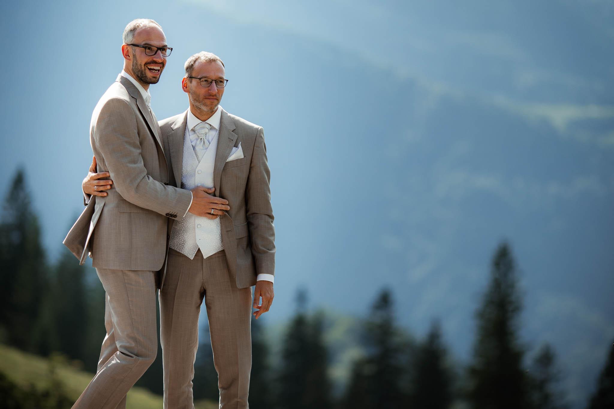 Hochzeitsfotograf Alpen, Chiemgau: freie Trauung von Dennis & Dirk