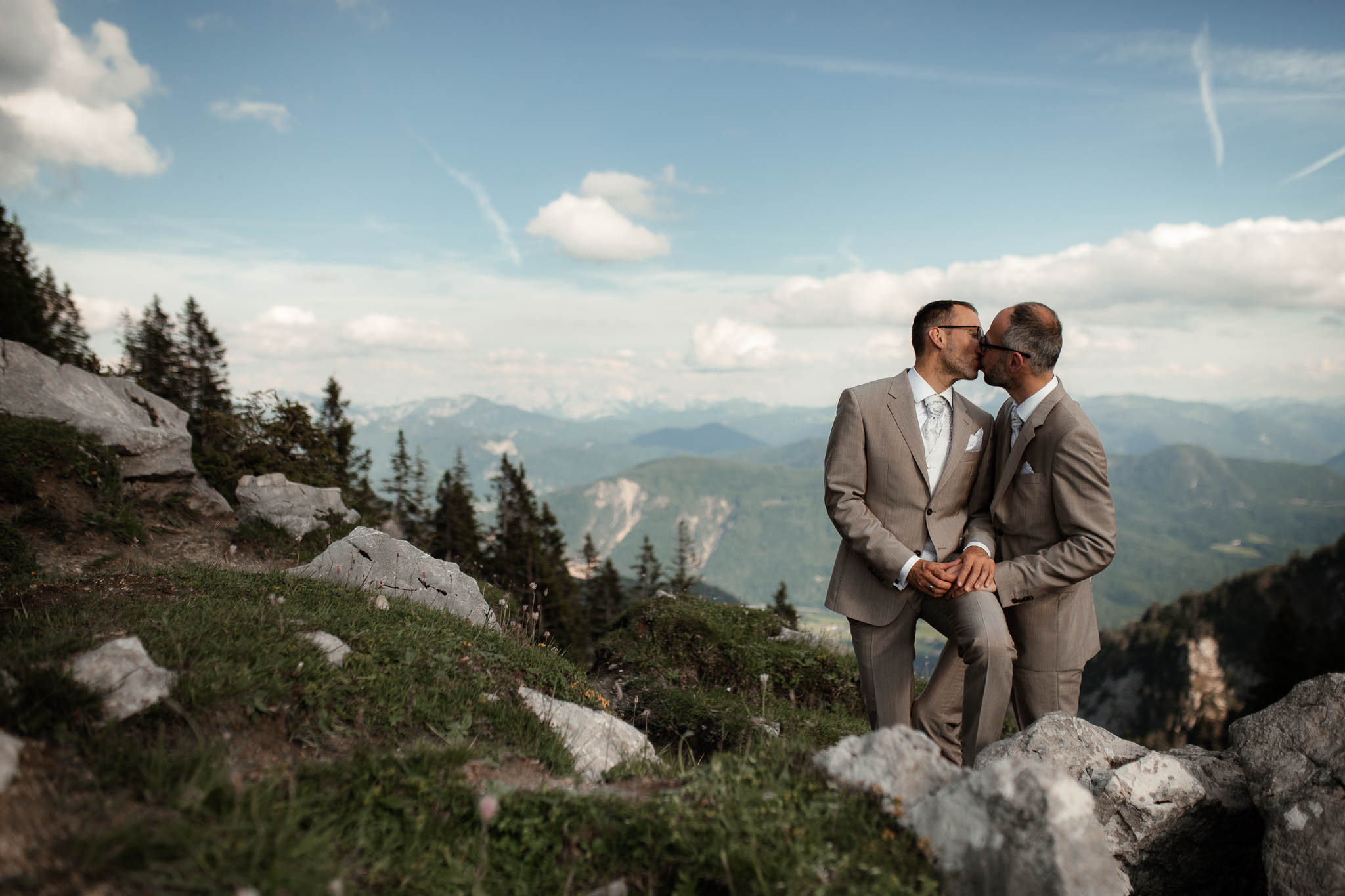 Hochzeitsfotograf Alpen, Chiemgau: freie Trauung von Dennis & Dirk 71