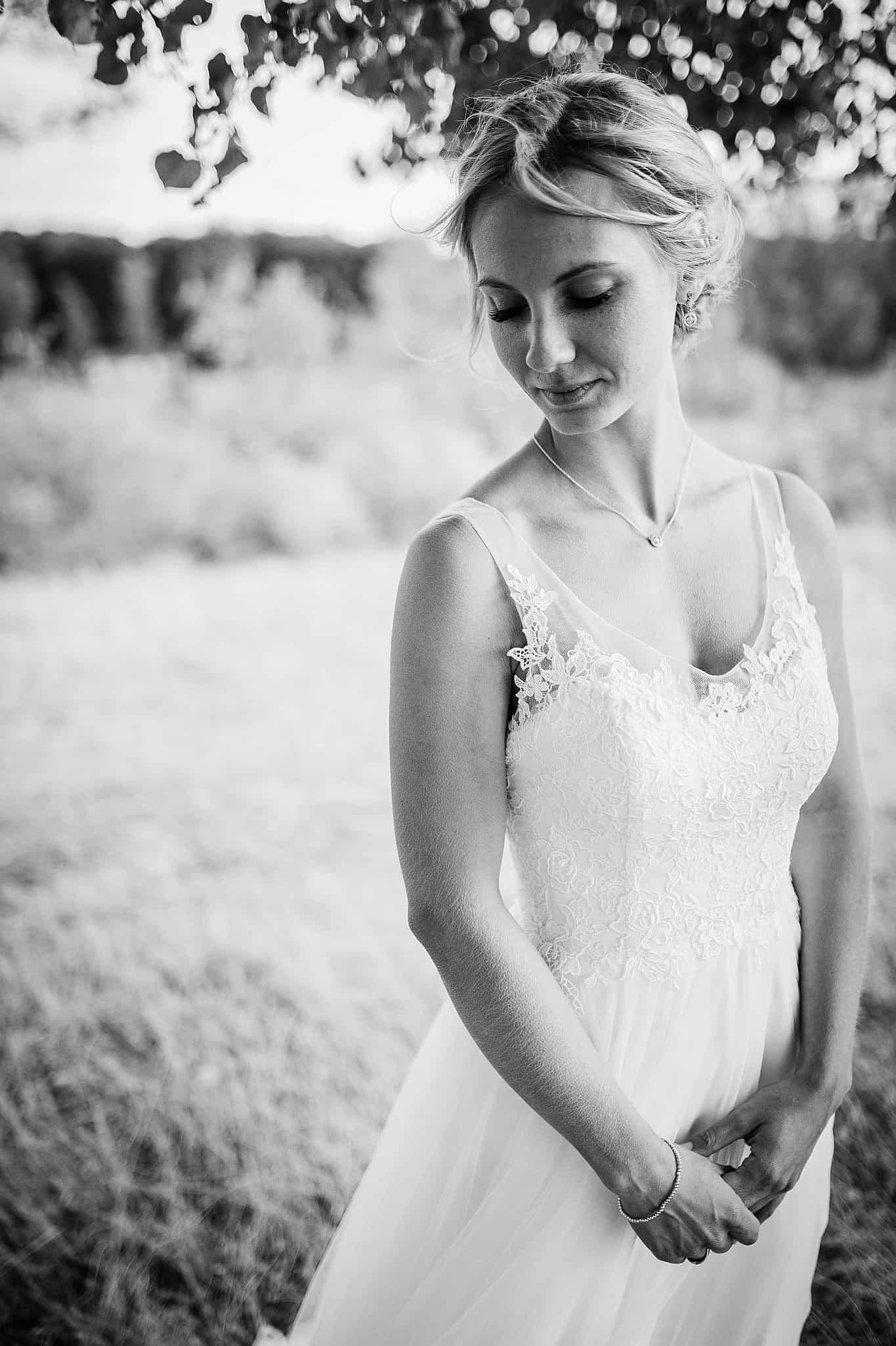 Einzelprotrait der Braut