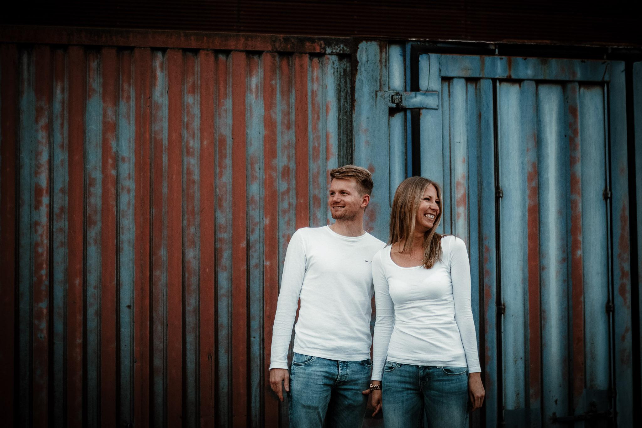 Urbane Paarfotos in Mannheim: Paarshooting mit Katja & Lars 1