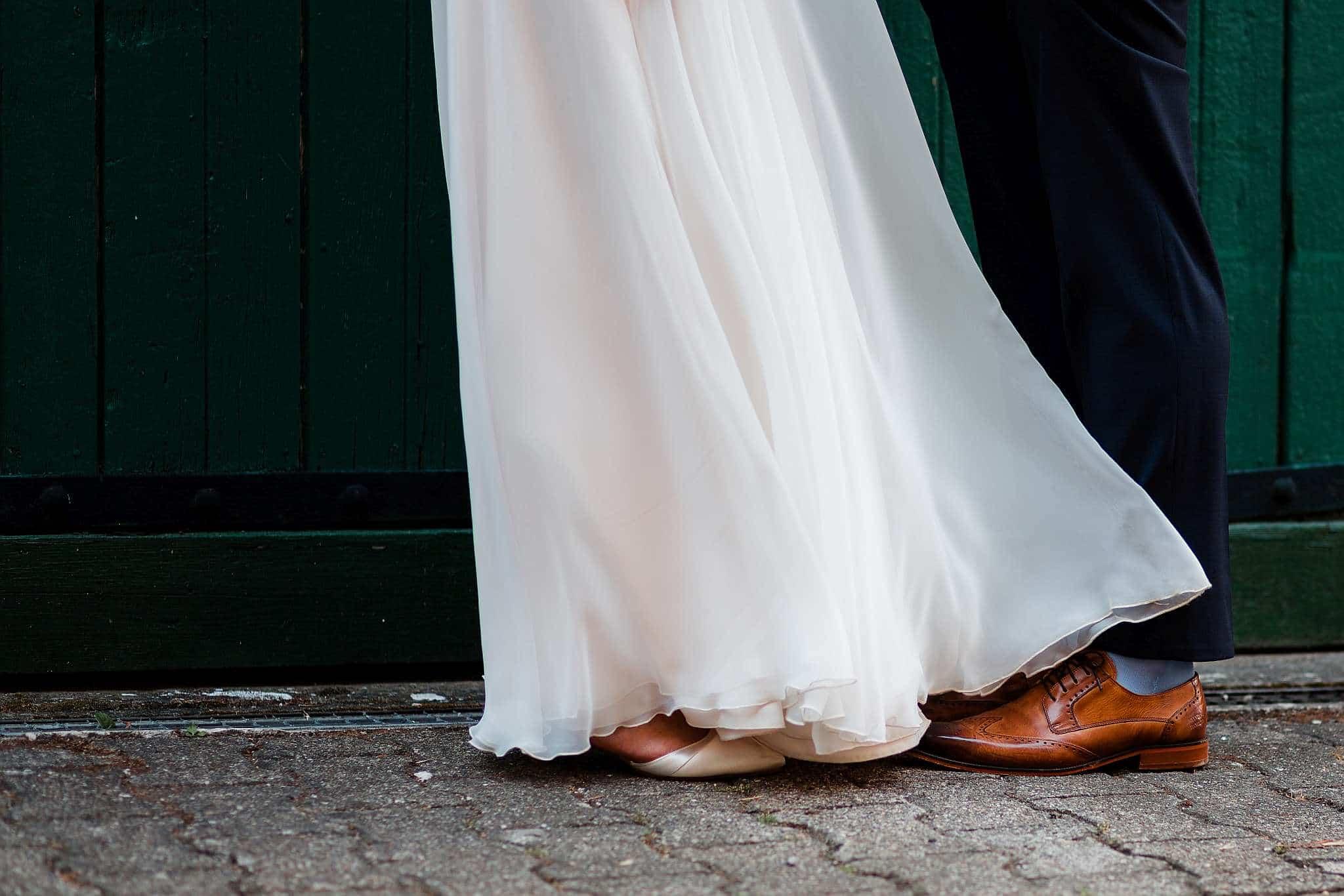 Details vom Brautkleid