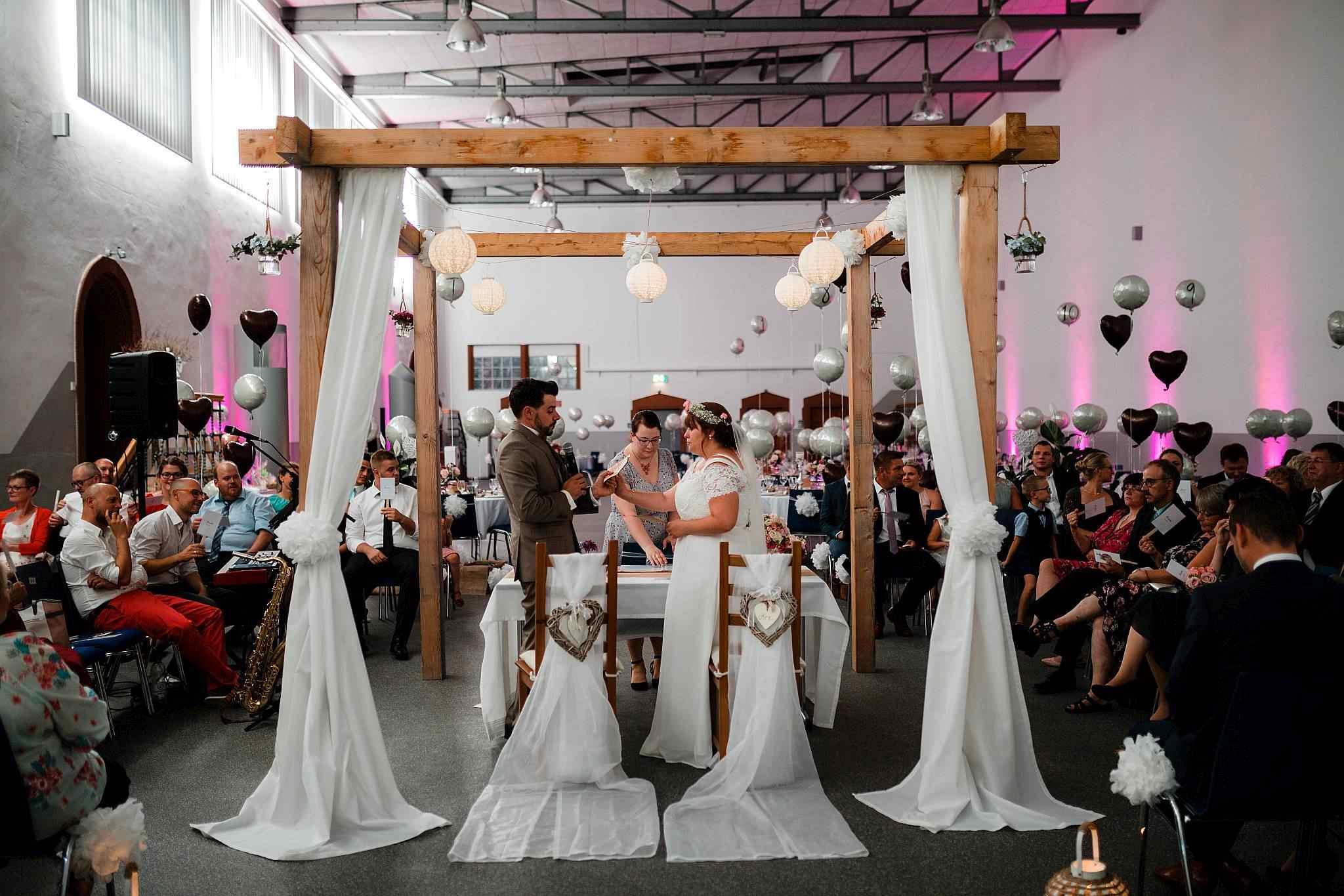 Das Eheversprechen während der Zeremonie