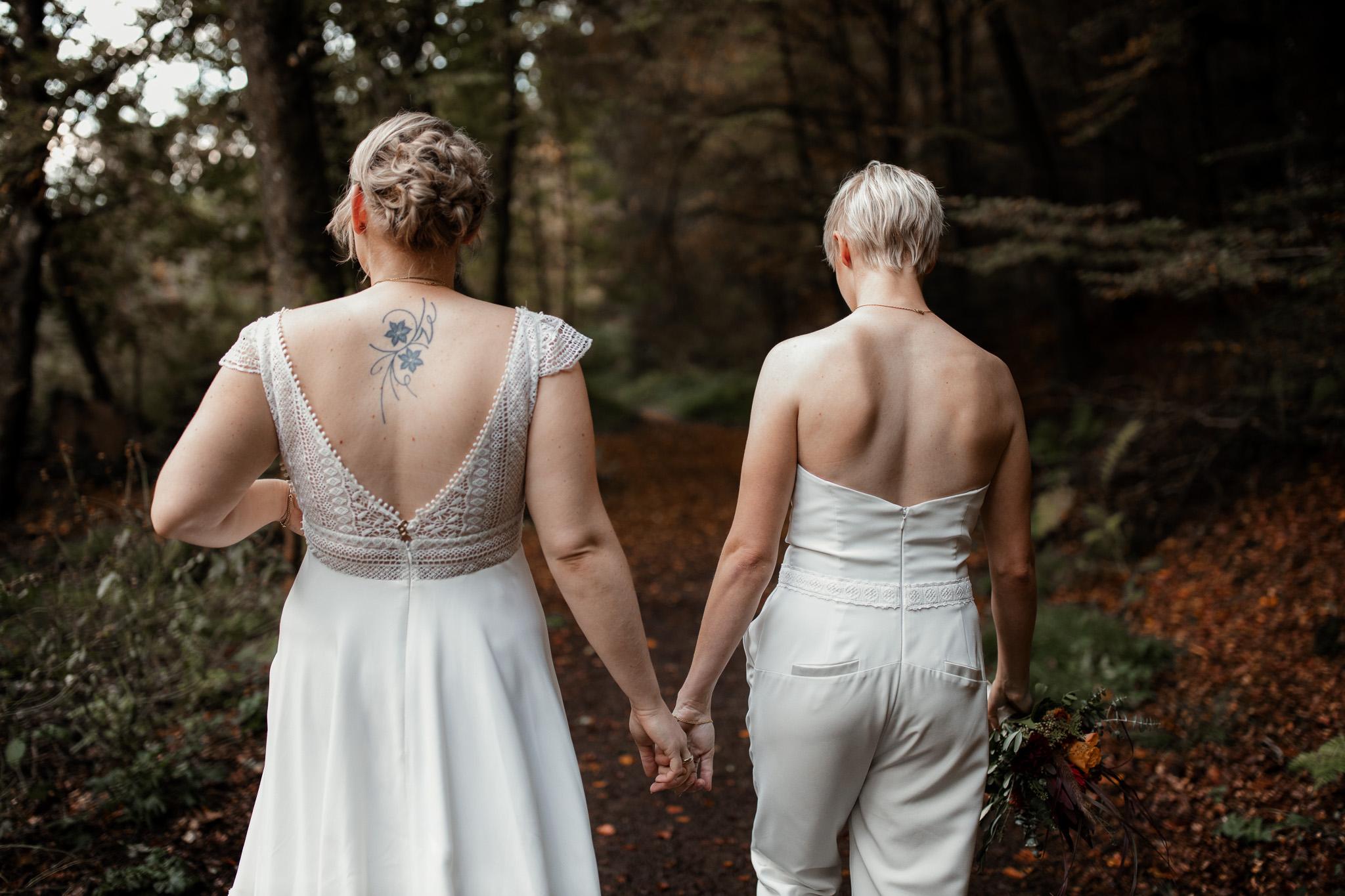 Hochzeitsfotos im Karlstal bei Trippstadt - Maja und Nathalie 37