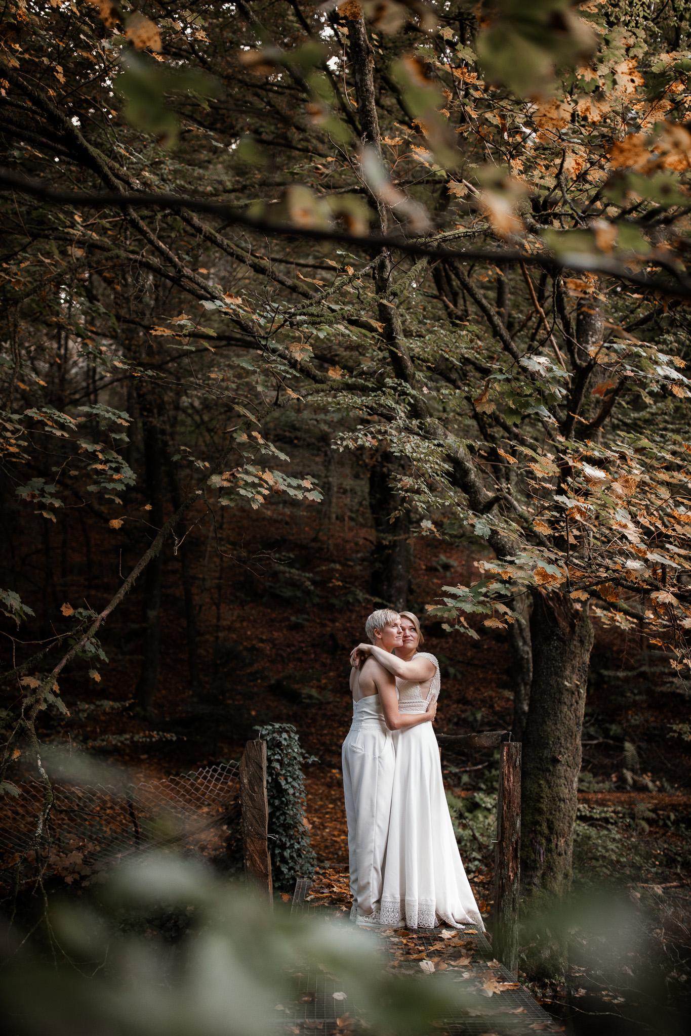 Hochzeitsfotos im Karlstal bei Trippstadt - Maja und Nathalie 33