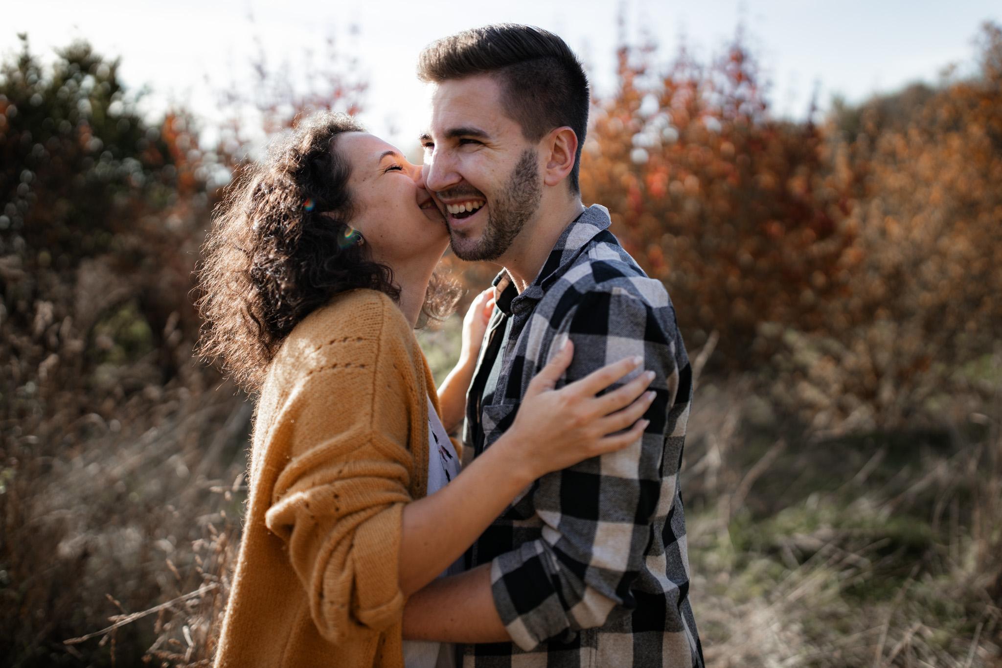 Sarah und Patrick hatten Jahrestag - daher ließen sich die Beiden Paarfotos anfertigen