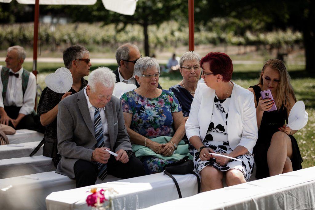 Gäste bei der freien Trauung