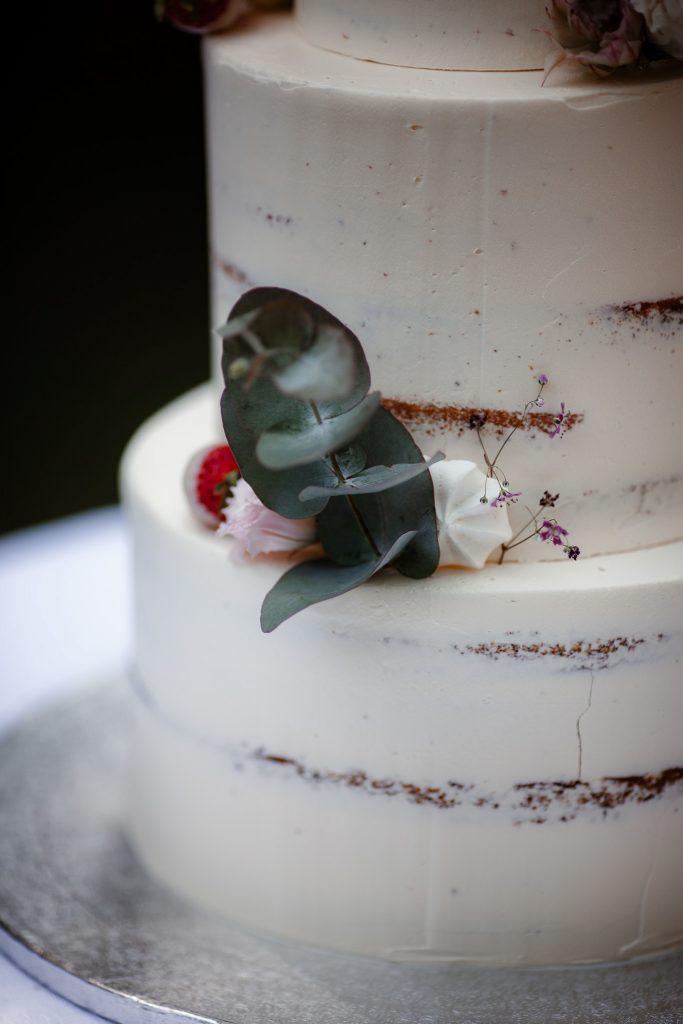 Detailaufnahme der Hochzeitstorte